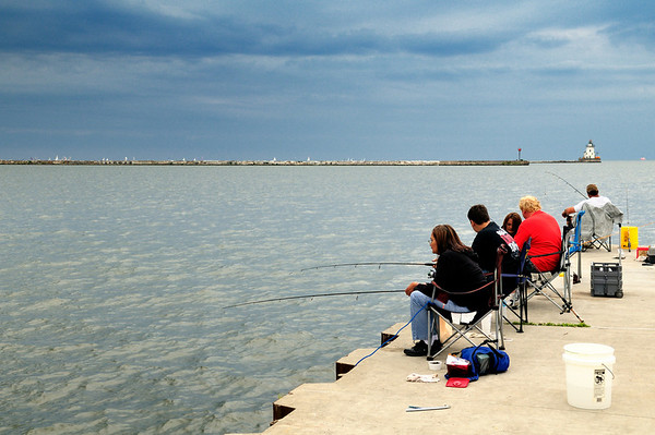 Fishermen at Wendy Park  - Cleveland, Ohio