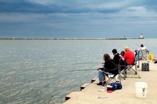 Fishermen at Wendy Park  - Cleveland, Ohio