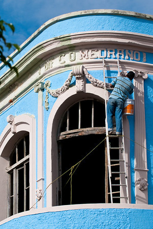 Restoration work - Old Mazatlan