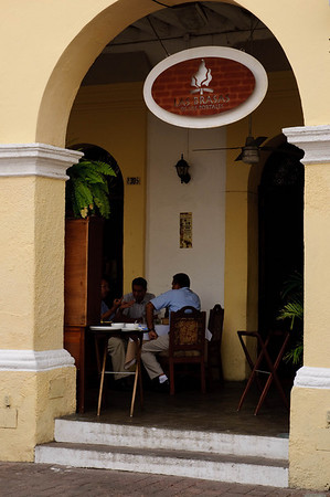 Cafe in the Plaza Machado - Old Mazatlan