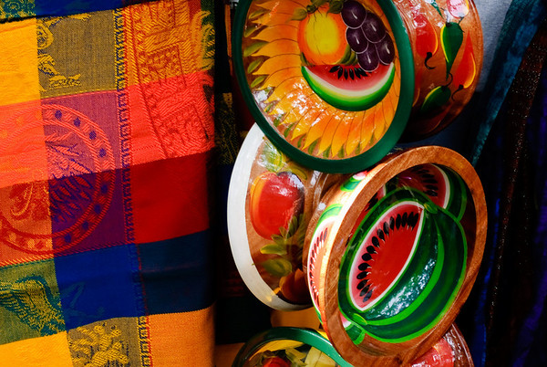 Fabric and Bowls - Puerto Vallarta