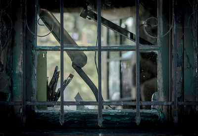 """Barred Window To The Artist's Soul""  Break the bars that restrain the mind. Let the creativity flow. No matter what it is let it flow. No restraints!!"