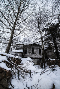 """""""Chapel in the Woods""""  This old country church rests in peace in the woods of Wisconsin. Voices no longer fill its rooms and parishioners no longer fill the pews."""