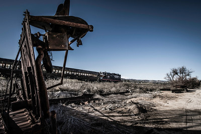 """Locomotion""  Time travel is possible in the back country East of San Diego. Passengers take a ride on the old railroad lines that still are in use in Campo, California at the Pacific Southwest Railroad Museum."