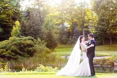 Bride and Groom after wedding at the Homestead Resort | Rayan Anastor Photography | Glen Arbor Wedding Photographer