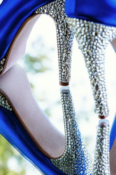 Blue and Rhinestone Bridal Shoe Reflection | Rayan Anastor Photography | Centerville Wedding Photographer