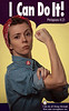 "Jamie as ""Rosie the Riveter"" -- our interpretation. :)"