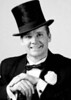 Ken as Fred Astaire; that top hat was loaned to us by a friend whose grandfather wore it in his 1912 wedding!