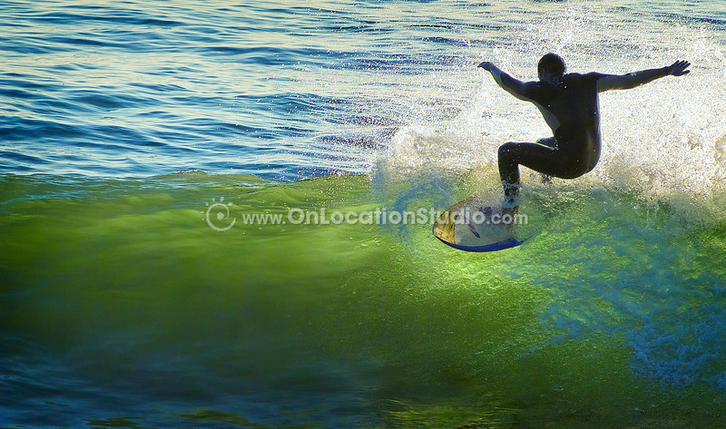 Surfers at Manhattan Beach Surfer at Manhattan Beach Pier