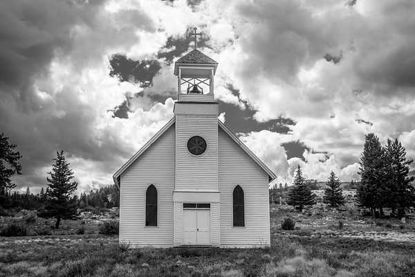 Little White Church near Crede, Colorado