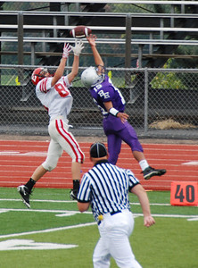 Up in the air: Bellevue East 9th grade football, fall 2009.