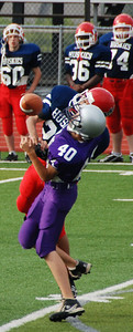 Fight for the catch: Bellevue East 9th grade football, fall 2009.
