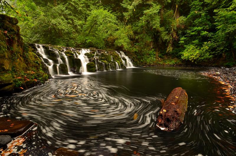 Upper Beaver Creek Falls, Fall Swirls