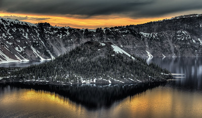 Sunset, Crater Lake National Park, Oregon