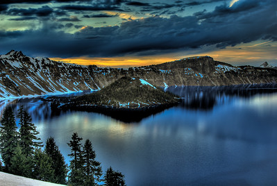 Sunset, Crater Lake National Park, Oregon