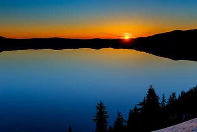 Sunrise, Crater Lake National Park, Oregon