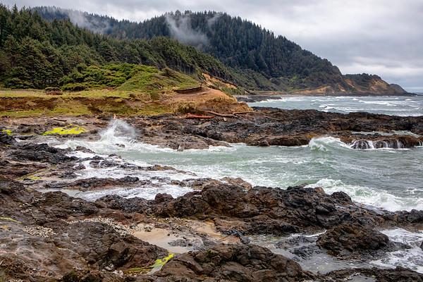 Cove along the Oregon Coast