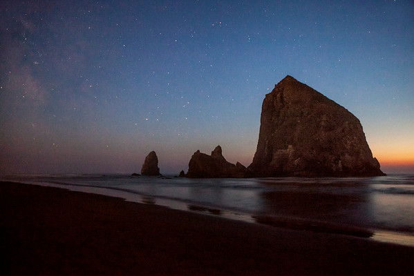 Haystack as Night Falls