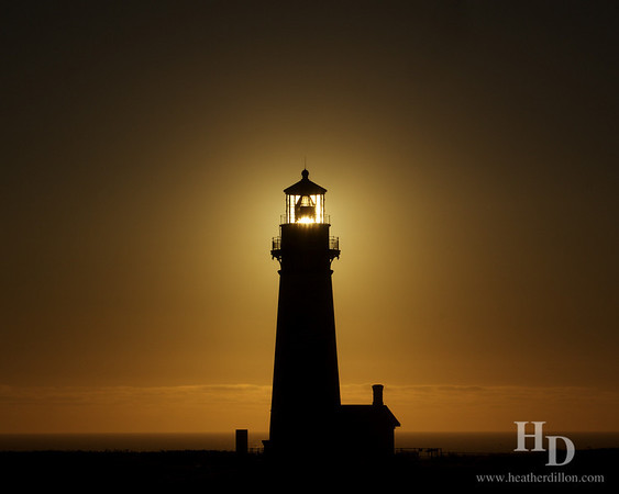 Sunset at Yaquina head lighthouse, Oregon