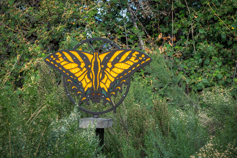 Butterfly Garden ornament featuring a Western Tiger Swallowtail