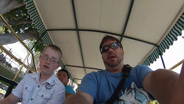 Omnibus ride down Main St. USA