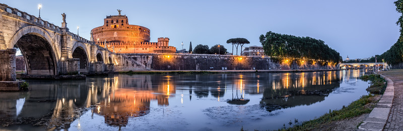Ponte & Castle Sant'Angelo, Rome, Italy