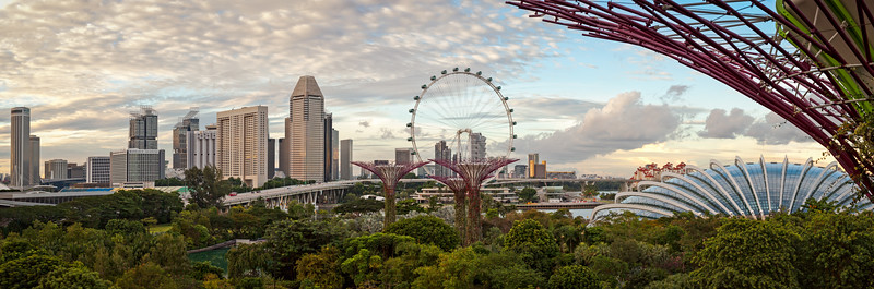 Gardens by the Bay & Singapore flyer, Singapore