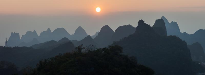 Hill range, Guilin, China