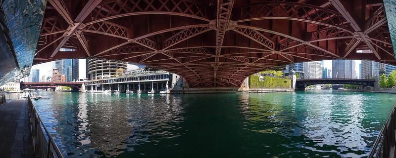 N State St Bridge, Chicago, USA