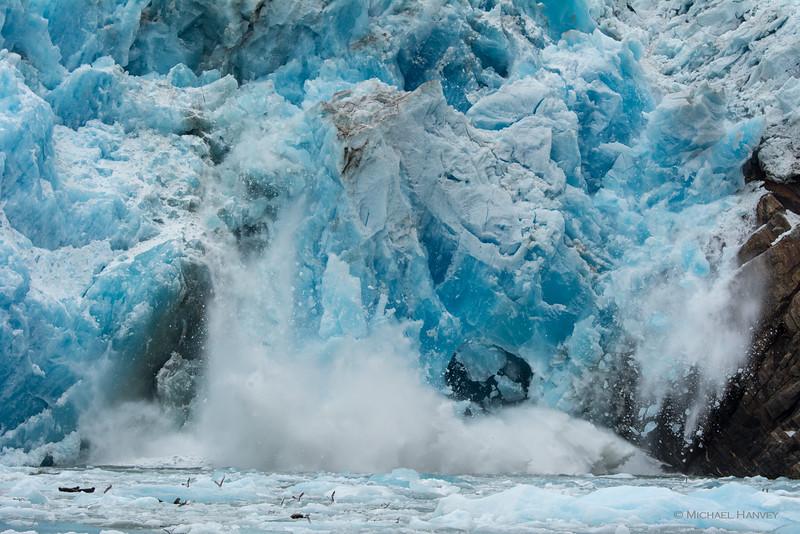 Calving of Sawyer Glacier