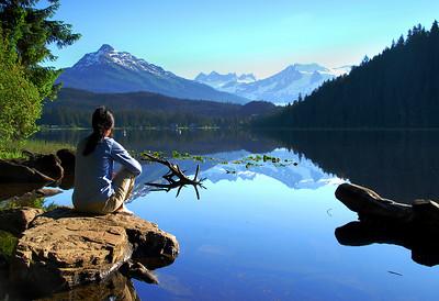 Meditative Scene, Auke Lake, Juneau, Alaska