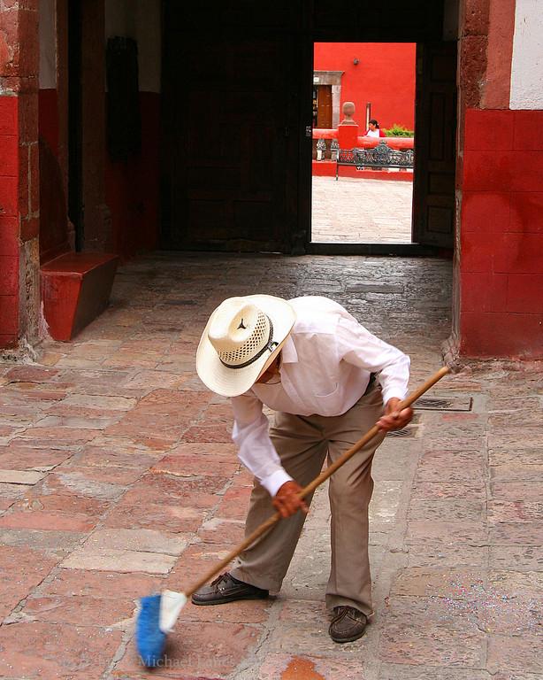 Industrious Old-Timer, San Miguel De Allende, Mexico