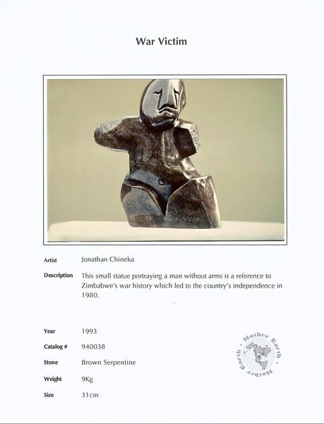 War Victim. Jonathan Chineka. $520 © Michel Botman Photography.  For information please contact michel@n49x.com. Thank you!