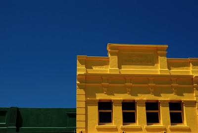 gelbe Fassade