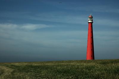 Leuchtturm hinterm Deich