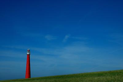 Der lange Jaap steht in den Helder in Nordholland