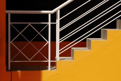 Stufen in Gelb