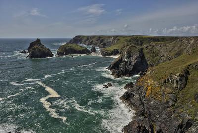 Steilküste in Cornwall