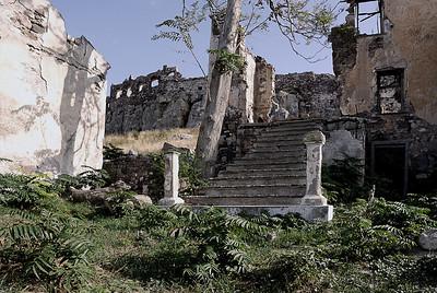 Ruine in Mytilini auf der griechischen Insel Lesbos