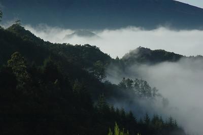 Berglandschaft im Nebel 2