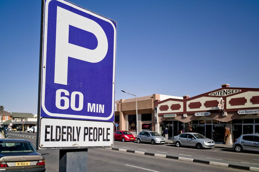 Seniorenparkplatz