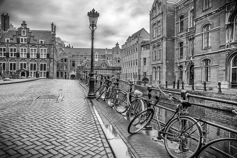Bicycles on a bridge, Amsterdam