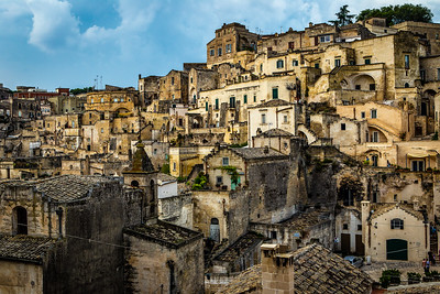 Magnificent homes built into cave, Matera, Italy