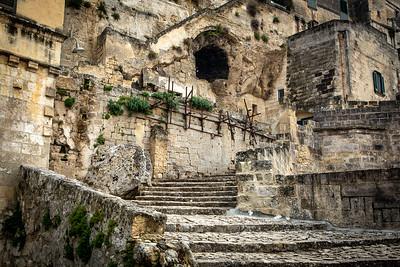 Stone pathway, Matera, Italy