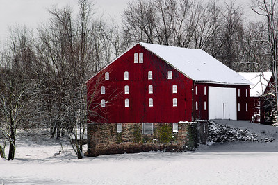 Red Barn in the Snow, Dickerson MD