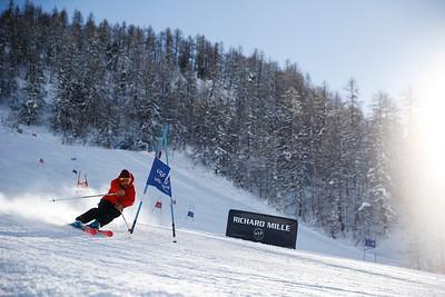 Ski Slalom training / Val d'Isère, France, 2017
