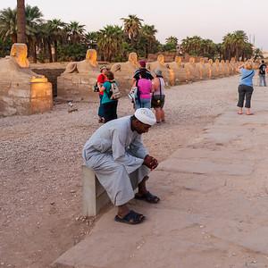 Sphingenallee in Richtung der Tempelanlage von Karnak