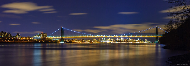 George Washington Bridge and Manhatten
