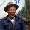 Old Tibetan man in Shangri-la  old town, Yunnan, China. (86 years).