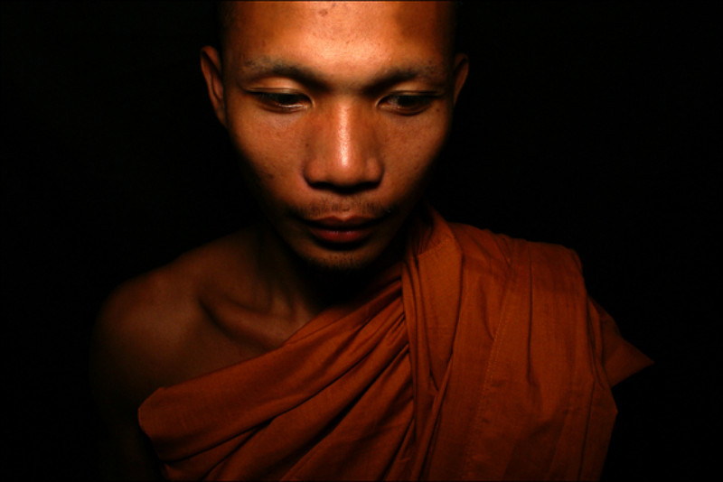 PORTRAIT OF THE CAMBODIAN MONK SANG SUN.